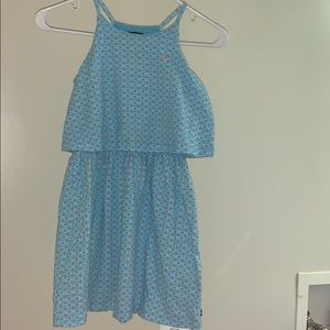 Nauctica blue dress with coral and white designs